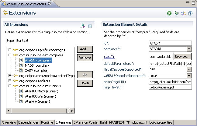 IDE compiler extensions