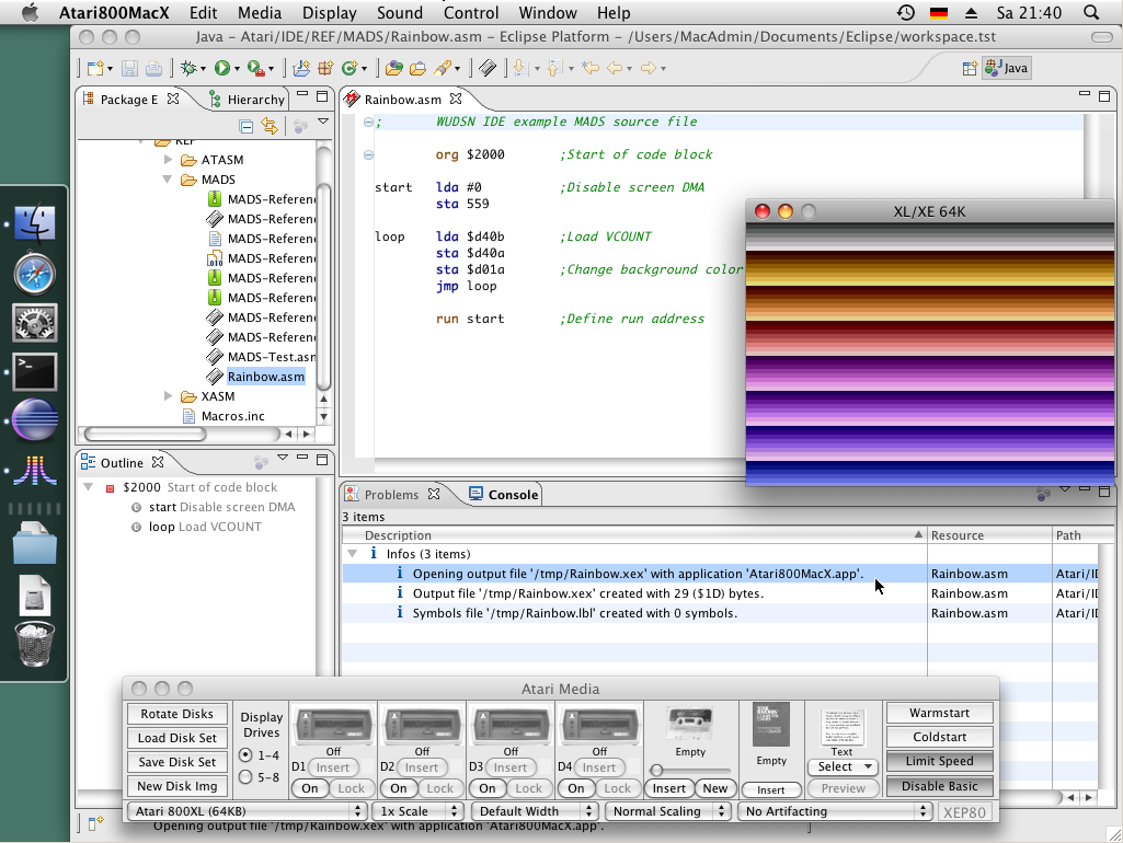 WUDSN IDE on Mac OS X